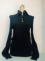 Свитер в стиле Louis Vuitton женский с высоким горлом черный, фото 1
