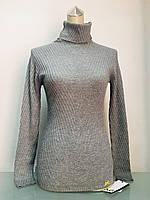 Свитер в стиле D&G женский с высоким горлом серый жемчужный, фото 1