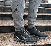 Зимние кожаные кроссовки с мехом в стиле Nike