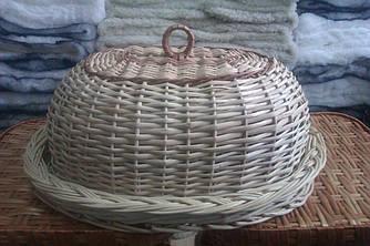Плетена хлібниця з лози, ручна робота