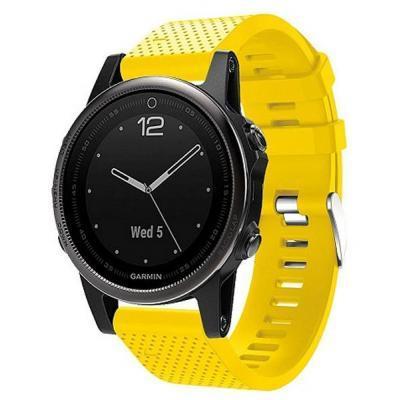 Смарт-часы Garmin Fenix 5s Sapphire Black With Yellow Silicon (010-01685-37)  — в Категории