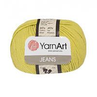 Хлопковая пряжа YarnArt Jeans 29 гороховый (ЯрнАрт Джинс)