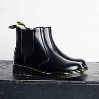 Мужские сапоги на меху Dr Martens Mens Black Pull-On Ankle Boots топ реплика 2eed78d29bf4d