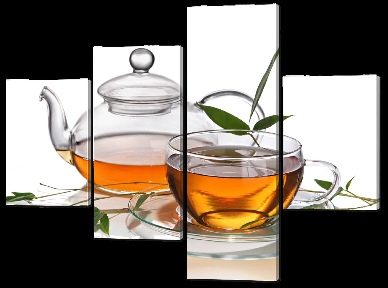 Модульная картина Interno Холст Зеленый чай 106x78см (R547S)