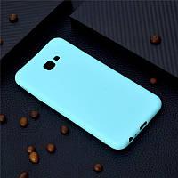 Чехол для Samsung J415 / J4 Plus 2018 силикон soft touch бампер мятно-голубой