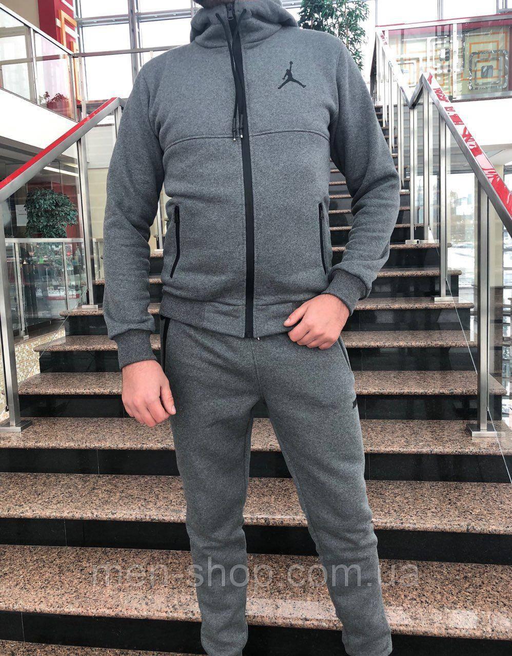 Спортивный Костюм Jordan на Флисе Серый — в Категории