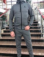 Спортивный костюм Jordan на флисе серый, фото 1