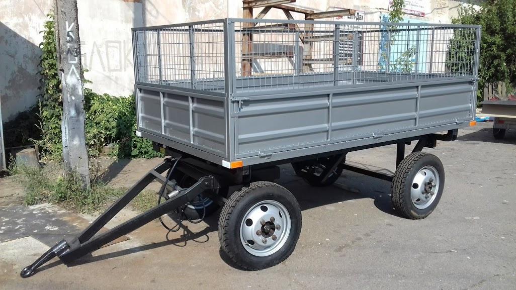 Прицеп двухосный для мини-трактора. Самосвал., цена 79999 грн., купить в  Фастове — Prom.ua (ID#765667159)