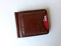 Мужской кошелек, зажим для денег. Ручная работа