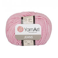 Хлопковая пряжа YarnArt Jeans 36 розовый (ЯрнАрт Джинс)