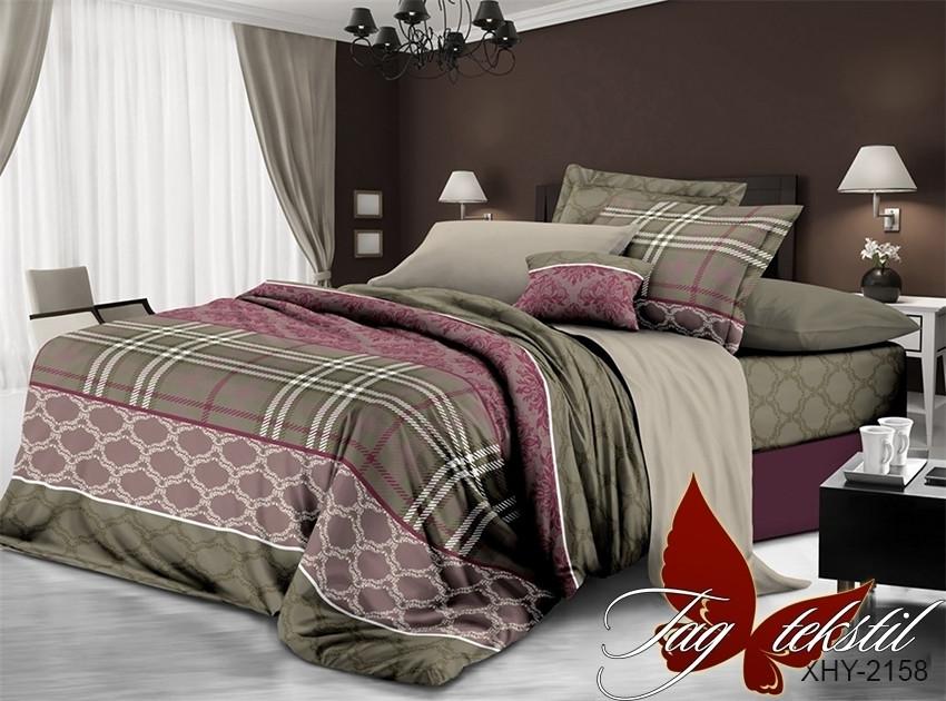 Комплект постельного белья XHY2158 полуторный (TAGpolicotton 1,5-sp-545)