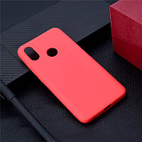 Чехол для Xiaomi Redmi Note 6 Pro силикон soft touch бампер красный