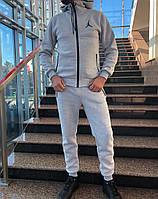 Спортивный костюм Jordan на флисе светлый, фото 1