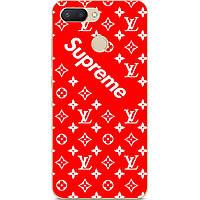 Бампер силиконовый чехол для Xiaomi Redmi 6 с принтом Supreme