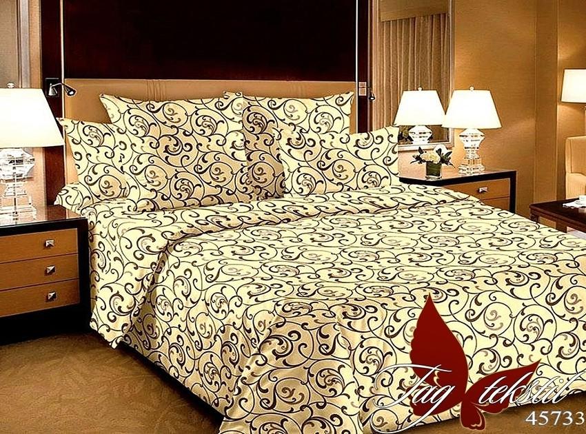 Комплект постельного белья XHY4573-3 полуторный (TAGpolicotton 1,5-sp-548)