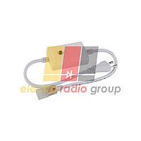 #12/1 Адаптер живлення для RGBY світлодіодної стрічки 6mm+конектор 2pin 220V 48-2835