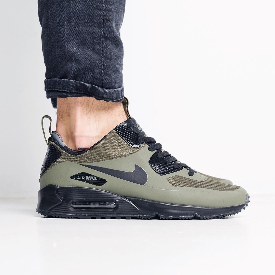 9fca1d9a Мужские кроссовки Nike Air Max 90 Mid Winter (Dark Loden) топ реплика