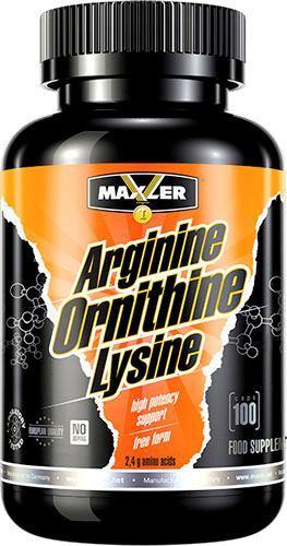 Аргинин Maxler Arginine Ornithine Lysine 100 caps