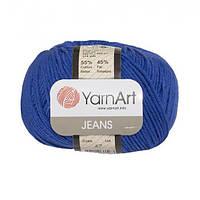 Хлопковая пряжа YarnArt Jeans 47 василек (ЯрнАрт Джинс)