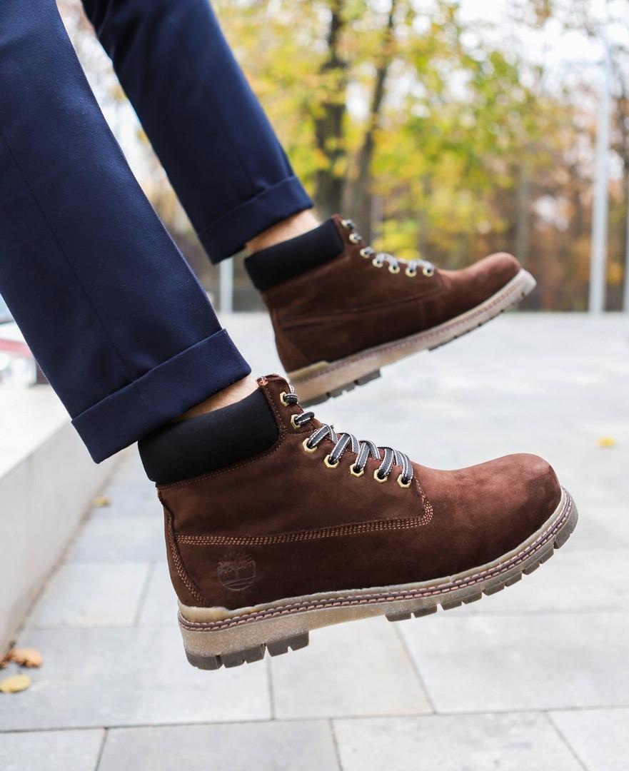 "Мужские зимние ботинки Timberland ""Broun""  ( в стиле Тимберленд )"