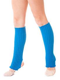 Гетры для танцев и гимнастики разогревочные l=40см голубые