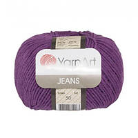 Хлопковая пряжа YarnArt Jeans 50 фиолетовый (ЯрнАрт Джинс)