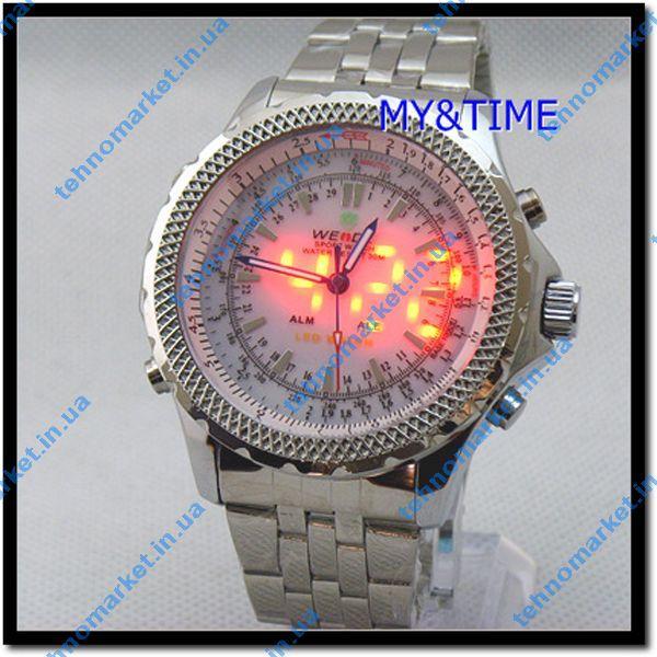 Часы Weide WH-904  Электронно механические светодиодные.