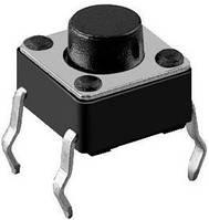 Кнопка тактовая, микро(SMD) 6х6х5 мм 10 шт., фото 1