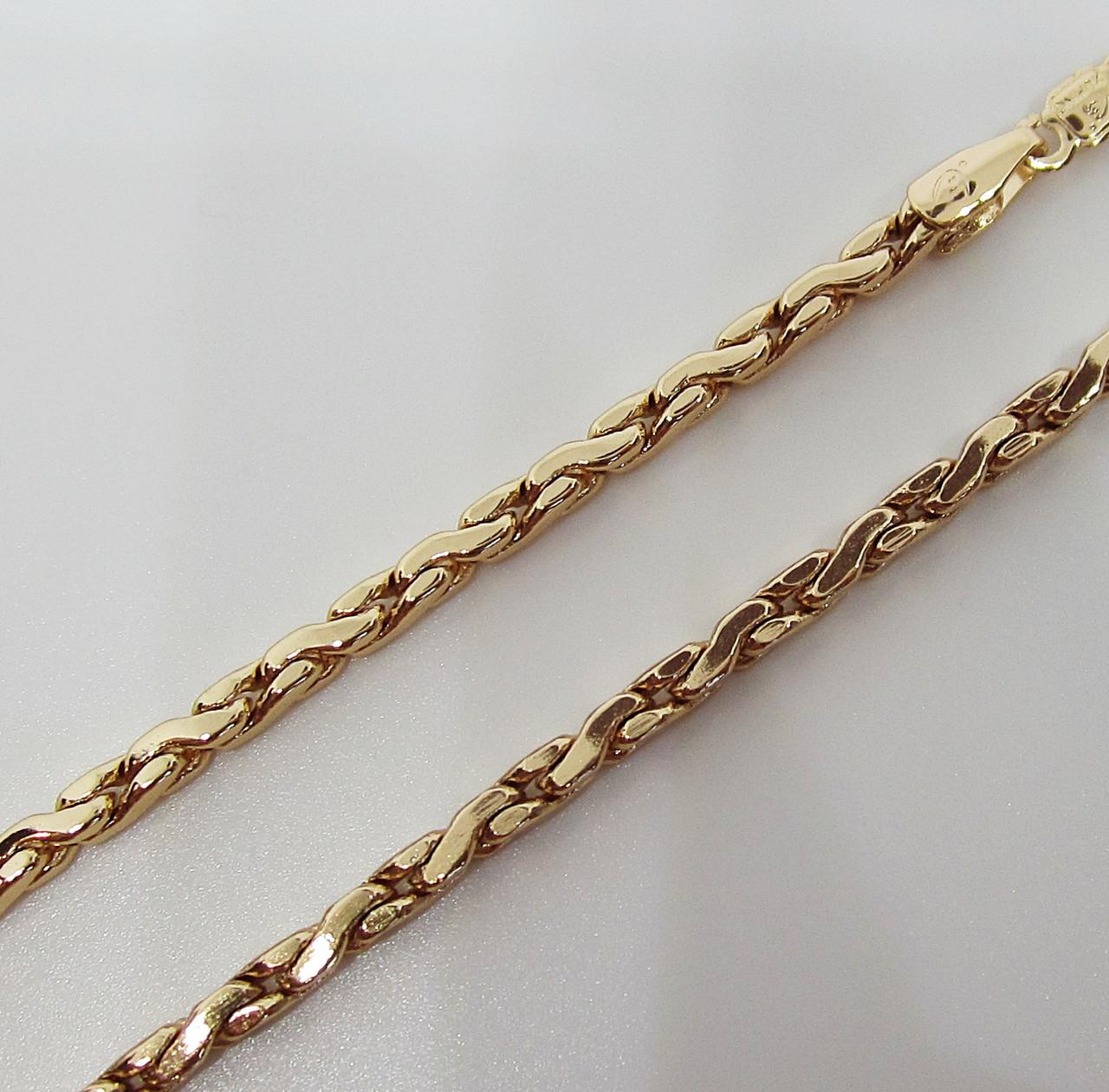 Цепочка плетение Сколоченное 59 см. ширина 3 мм
