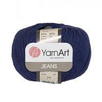 Хлопковая пряжа YarnArt Jeans 54 темно-синий (ЯрнАрт Джинс)