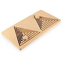 ☀ Дерев'яний Лабіринт ☀ Трикутник ☀