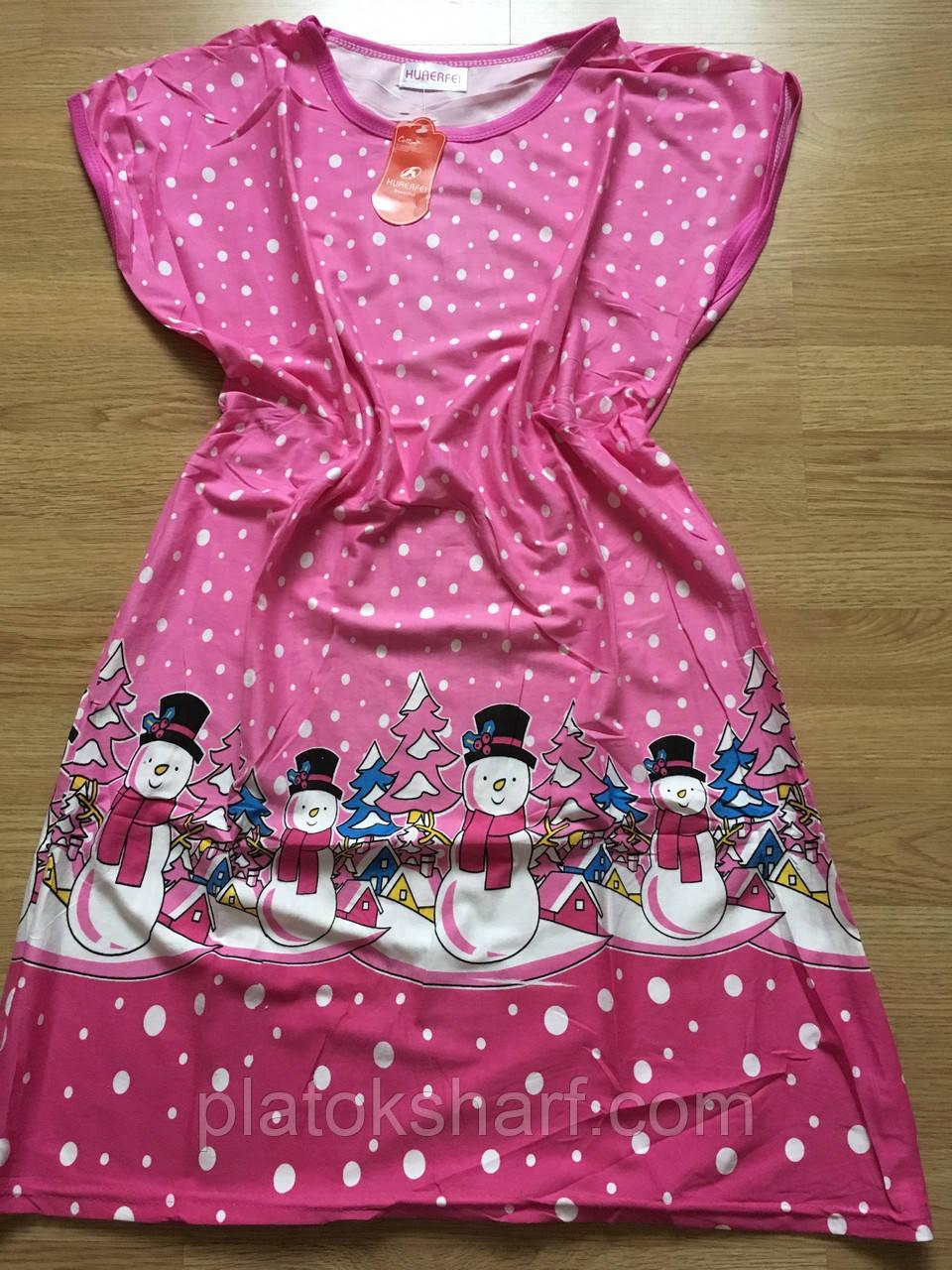 Туника молодежная, стильная ночная рубашка 46-52