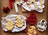 Новогодняя вырубка для печенья леденец от OogiMe, фото 3