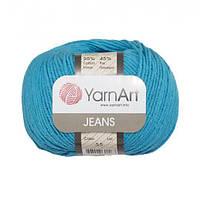 Хлопковая пряжа YarnArt Jeans 55 бирюзовый (ЯрнАрт Джинс)
