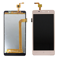 Дисплей (LCD) Bravis A504/  X500 Trance Pro c сенсором золотой