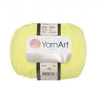 Хлопковая пряжа YarnArt Jeans 58 лимон (ЯрнАрт Джинс)
