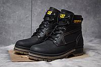Зимние ботинки  на меху CAT Caterpilar Anti-Glide, черные (30542) размеры в наличии ► [  44 (последняя пара)  ](реплика)