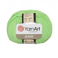 Хлопковая пряжа YarnArt Jeans 60 салатовый (ЯрнАрт Джинс)