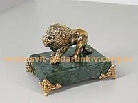 Статуэтка бронзовый Лев, эксклюзивный подарок