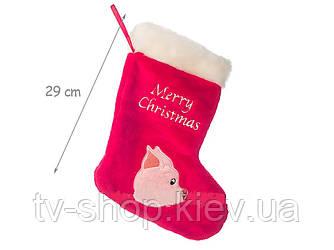 Носок для подарков символ 2019 года Свинка