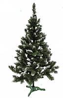 Искусственная зеленая елка Швейцарская белый кончик с шишками 1.8м
