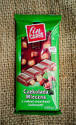 Fin Carre Hazelnut Chocolate 100 gramm Молочный шоколад с целым фундуком