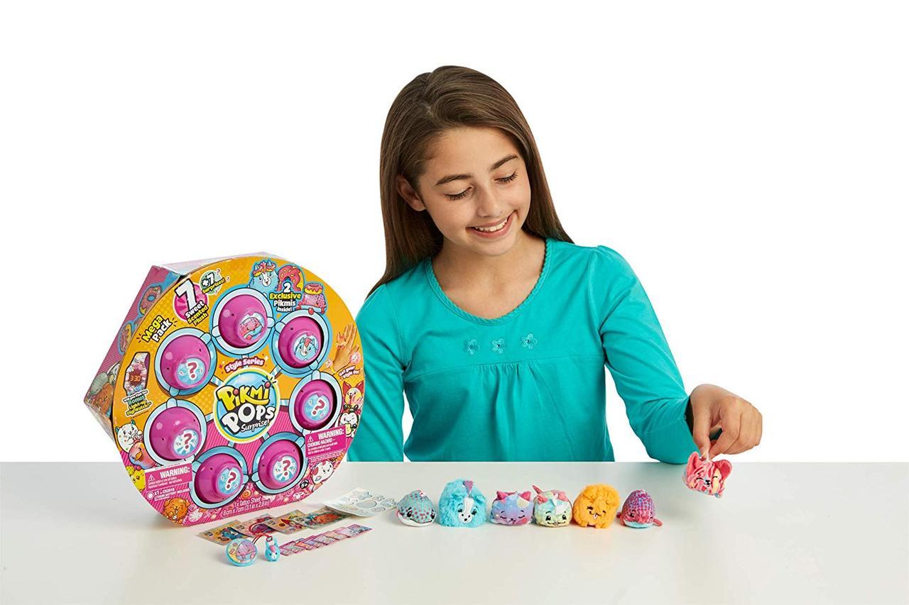 Большой набор сюрприз 7 ароматных мягких игрушек+7сюрпризов. Moose Pikmi Pops. Оригинал из США