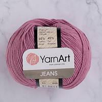 Хлопковая пряжа YarnArt Jeans 65 сухая роза (ЯрнАрт Джинс)