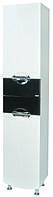 Пенал Аква Родос Премиум 40 см правый (черный цвет) с корзиной для белья
