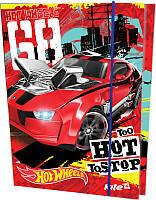 Папка картонная для тетрадей на резинке В5 KITE 2015 Hot Wheels 210