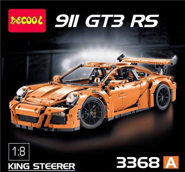 Конструктор Decool 3368 А Technic Спорт Кар Porsche 911 GT3 RS 2728 деталей