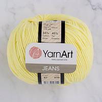 Хлопковая пряжа YarnArt Jeans 67 светлый лимон (ЯрнАрт Джинс)