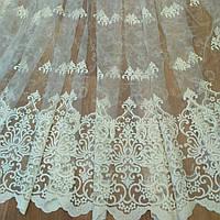 Гардина с набивной вышивкой для зала, фото 1