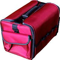Чемодан, маникюрная сумка для мастера, тканевый, цвет бордовый, фото 1